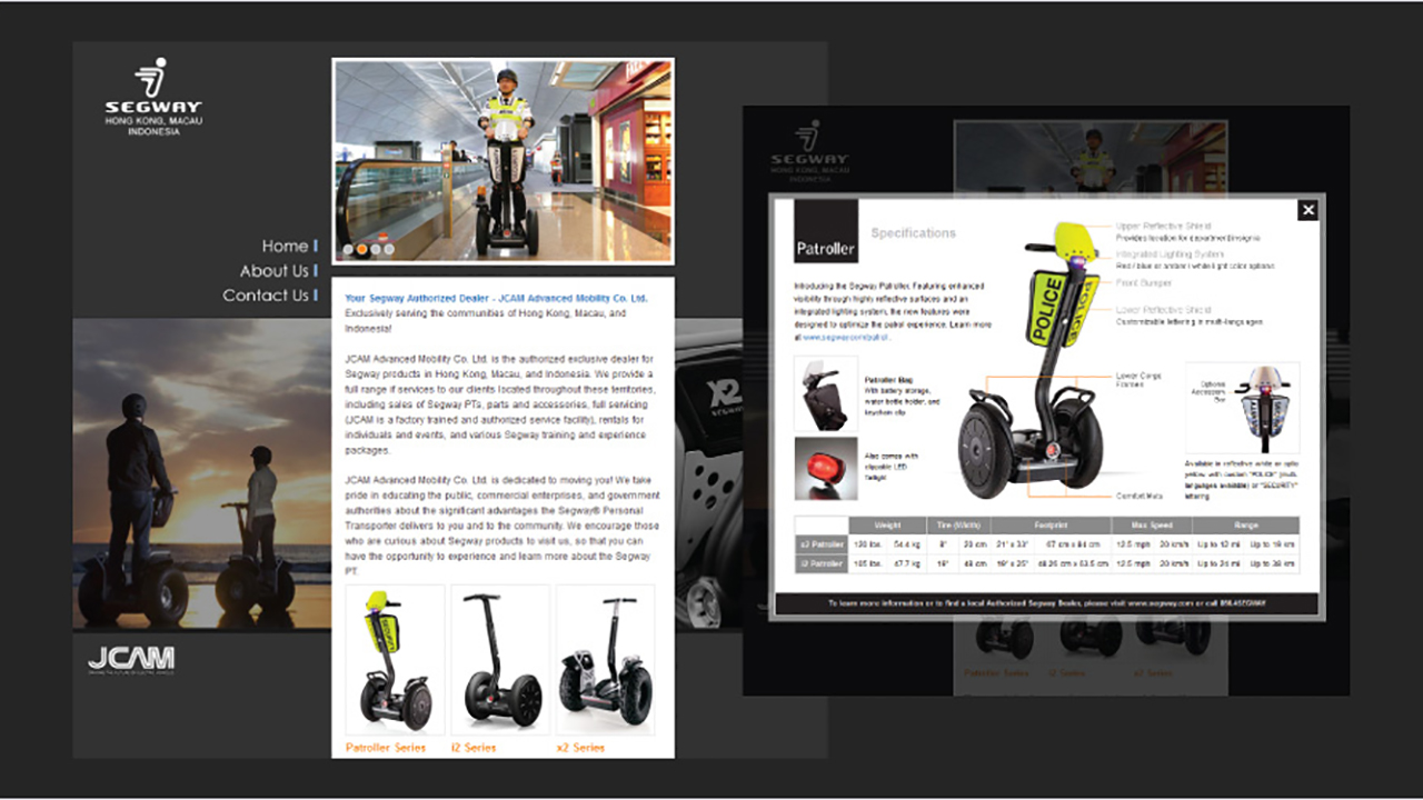 Segway product mini-site