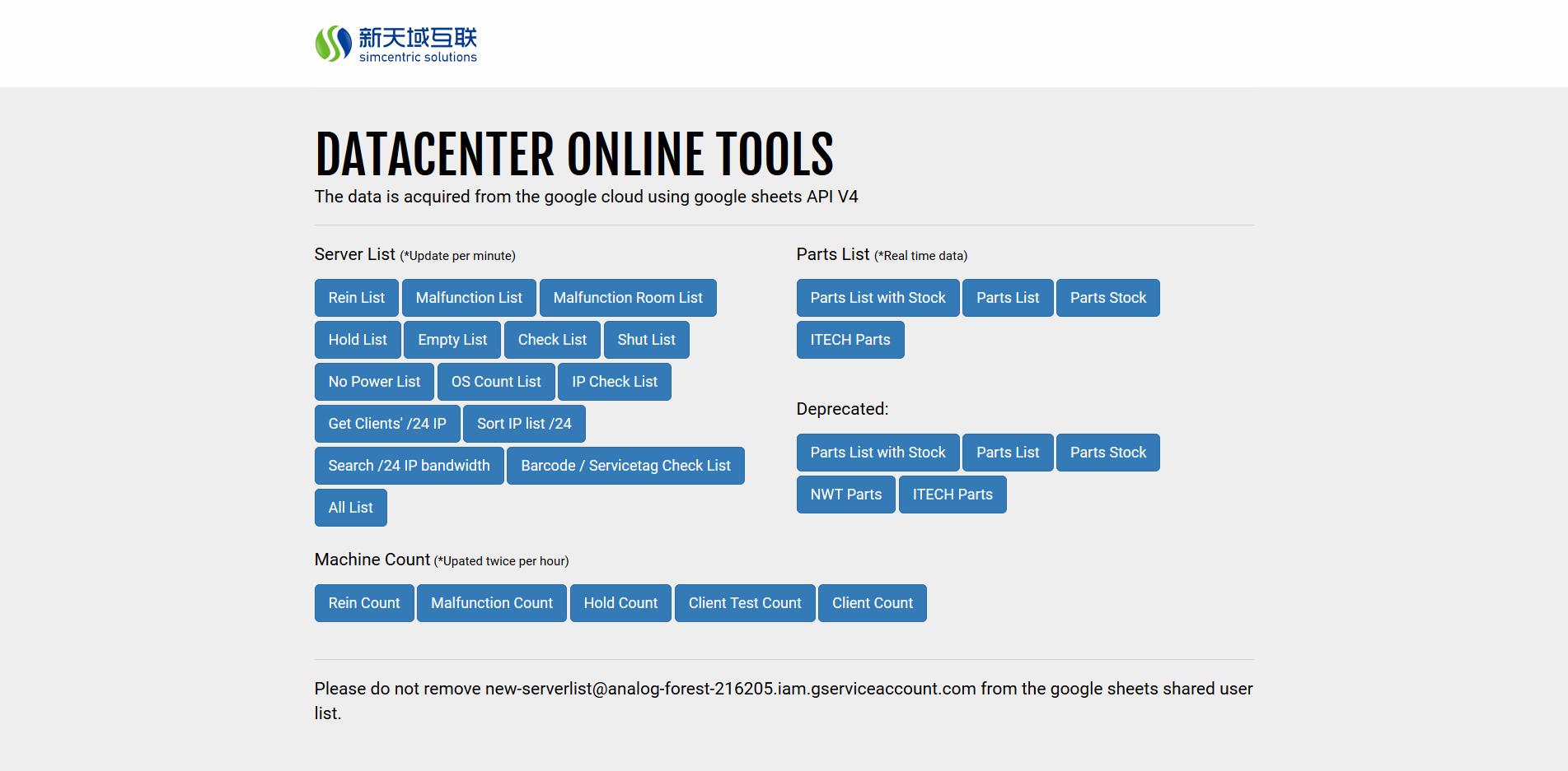 Server List tools
